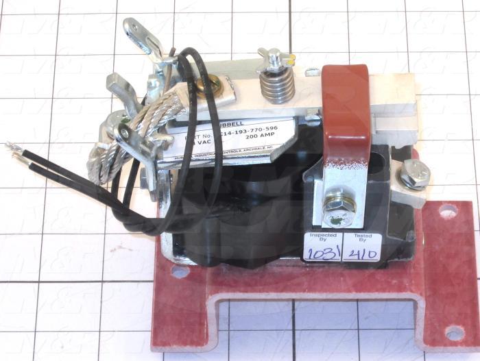 Contactor, 1 Pole, 230VDC Coil, 200A, 3000VAC