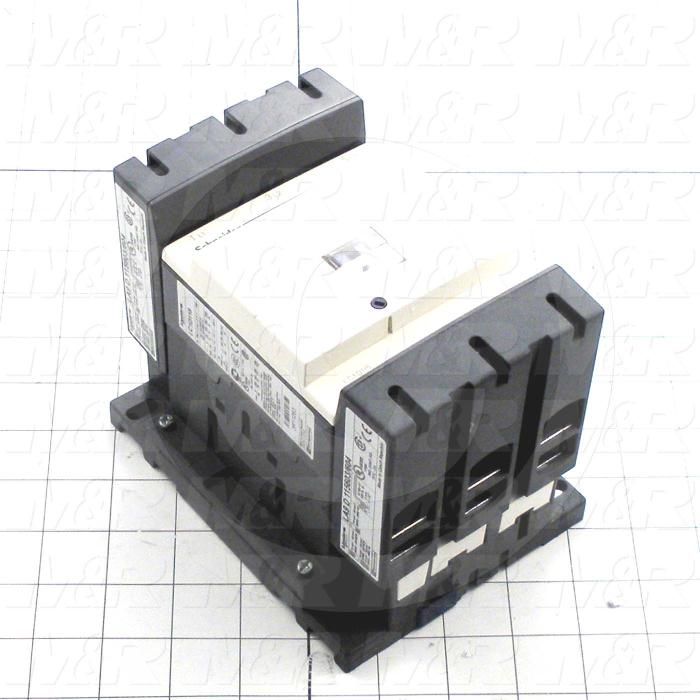 Contactor, 2 Poles, 120VAC Coil, 120A, 600VAC, Screw Terminal Connection