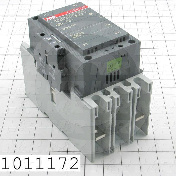 Contactor, 2 Poles, 120VAC Coil, 200A, 600VAC, 1 NO Contacts, 1 NC Contacts, Screw Terminal Connection