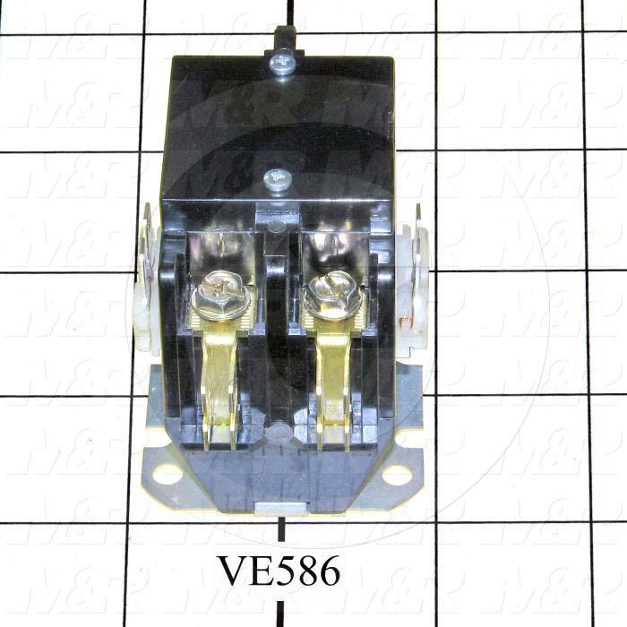 Contactor, 2 Poles, 120VAC Coil, 25A