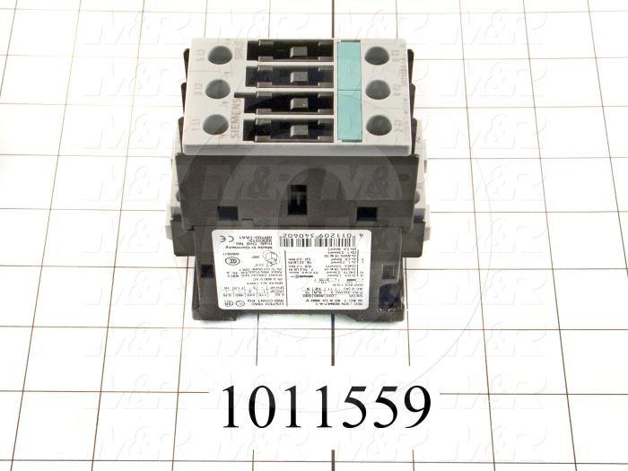 Contactor, 240VAC Coil, 35A, 3 HP @ 3PH 200VAC, 7.5 HP @ 3PH 460VAC, Screw Terminal Connection