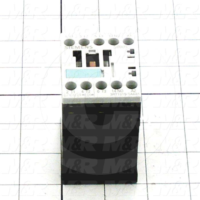 Contactor, 3 Poles, 120VAC Coil, 20A, 1.5 HP @ 3PH 200VAC, 575VAC, 3 HP @ 3PH 460VAC, 1 NO Contacts, Screw Terminal Connection