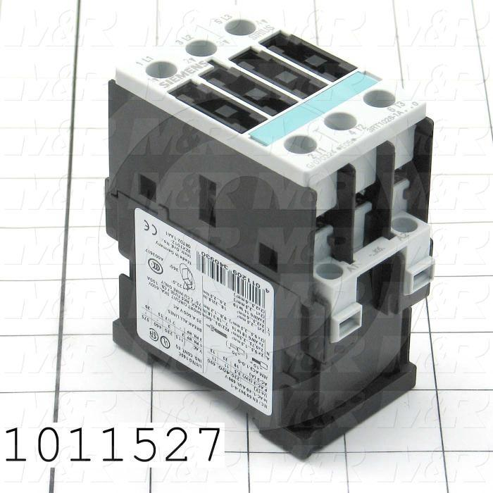 Contactor, 3 Poles, 120VAC Coil, 35A, 7.5 HP @ 3PH 200VAC, 575VAC, 15 HP @ 3PH 460VAC, Screw Terminal Connection