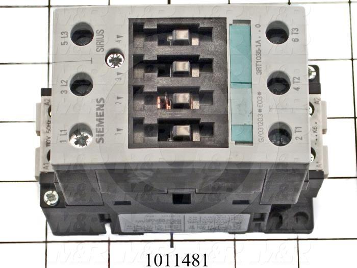 Contactor, 3 Poles, 120VAC Coil, 55A, 10 HP @ 3PH 200VAC, 575VAC, 30 HP @ 3PH 460VAC, Screw Terminal Connection