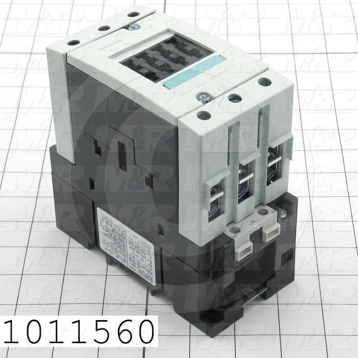 Contactor, 3 Poles, 240VAC Coil, 105A, 25 HP @ 3PH 200VAC, 575VAC, 60 HP @ 3PH 460VAC, Screw Terminal Connection