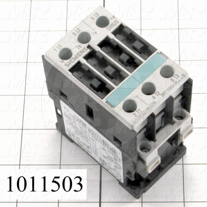 Contactor, 3 Poles, 240VAC Coil, 35A, 5 HP @ 3PH 200VAC, 575VAC, 10 HP @ 3PH 460VAC, Screw Terminal Connection