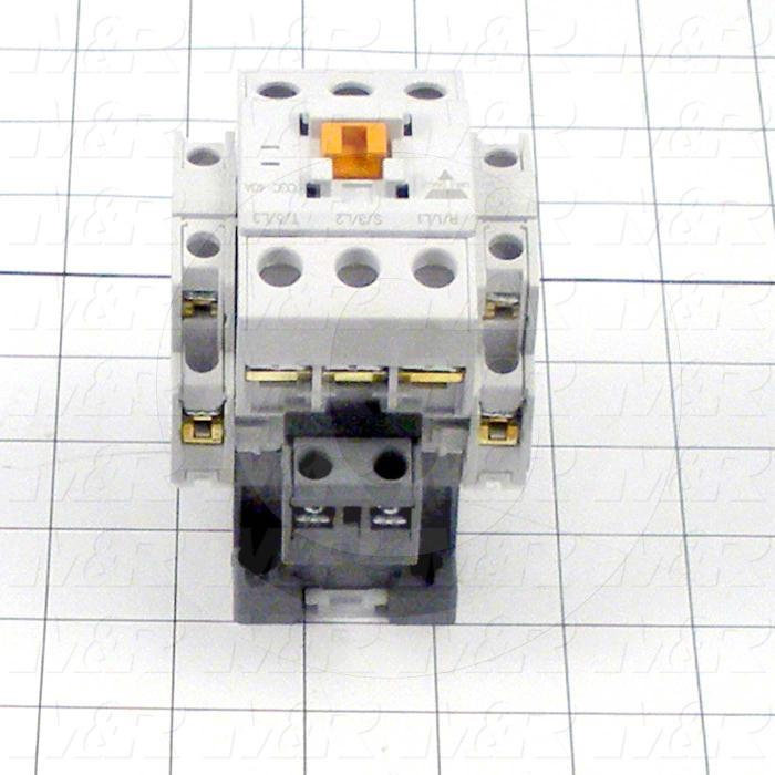Contactor, 3 Poles, 240VAC Coil, 40A, 2 NO Contacts, 2 NC Contacts, Screw Terminal Connection