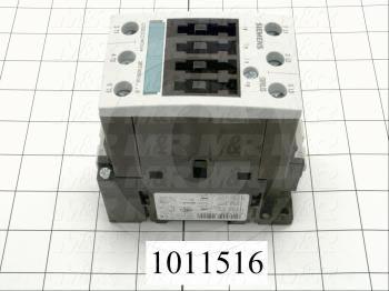 Contactor, 3 Poles, 240VAC Coil, 55A, 10 HP @ 3PH 200VAC, 575VAC, 30 HP @ 3PH 460VAC, Screw Terminal Connection