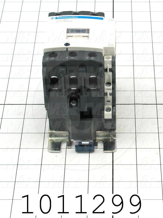 Contactor, 3 Poles, 240VAC Coil, 60A, 10 HP @ 3PH 200VAC, 30 HP @ 3PH 460VAC, 1 NO Contacts, 1 NC Contacts, Screw Terminal Connection