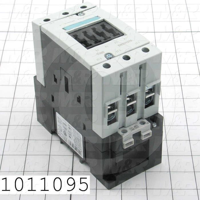 Contactor, 3 Poles, 240VAC Coil, 90A, 20 HP @ 3PH 200VAC, 575VAC, 50HP HP @ 3PH 460VAC, Screw Terminal Connection