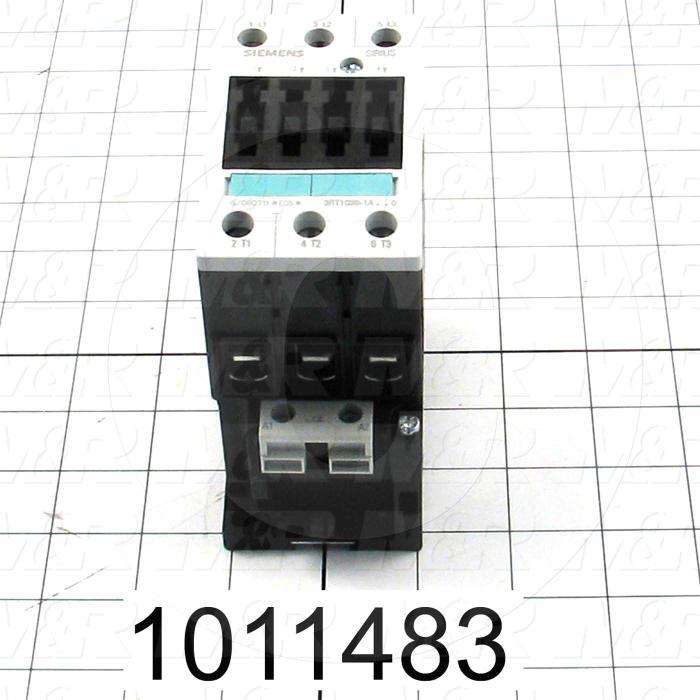 Contactor, 3 Poles, 24VAC Coil, 50A, 10 HP @ 3PH 200VAC, 575VAC, 40 HP @ 3PH 460VAC, Screw Terminal Connection
