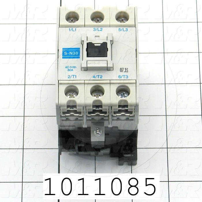 Contactor, 3 Poles, 24VAC Coil, 55A, 10 HP @ 3PH 200VAC, 575VAC, Screw Terminal Connection