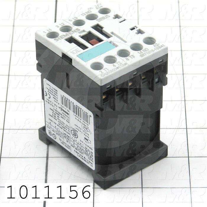 Contactor, 3 Poles, 24VDC Coil, 20A, 1.5 HP @ 3PH 200VAC, 575VAC, 3 HP @ 3PH 460VAC, 1 NO Contacts, Screw Terminal Connection
