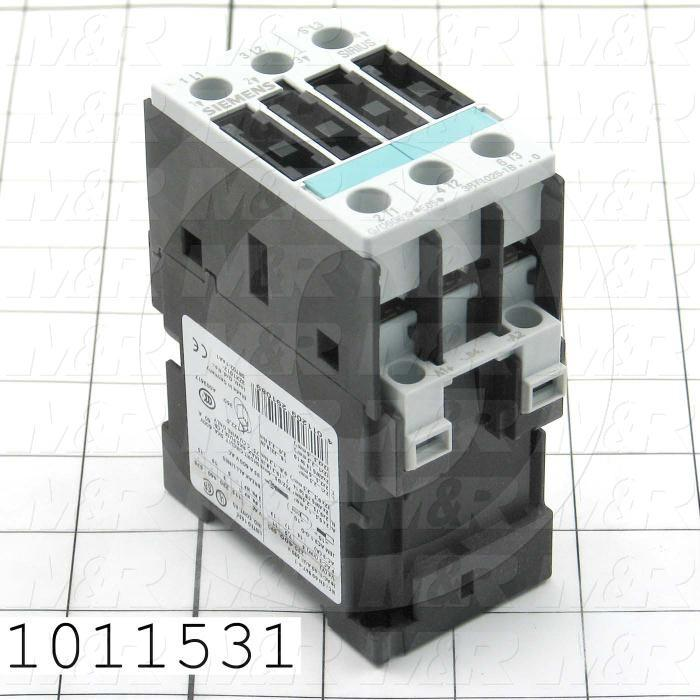 Contactor, 3 Poles, 24VDC Coil, 35A, 5 HP @ 3PH 200VAC, 575VAC, 10 HP @ 3PH 460VAC, Screw Terminal Connection