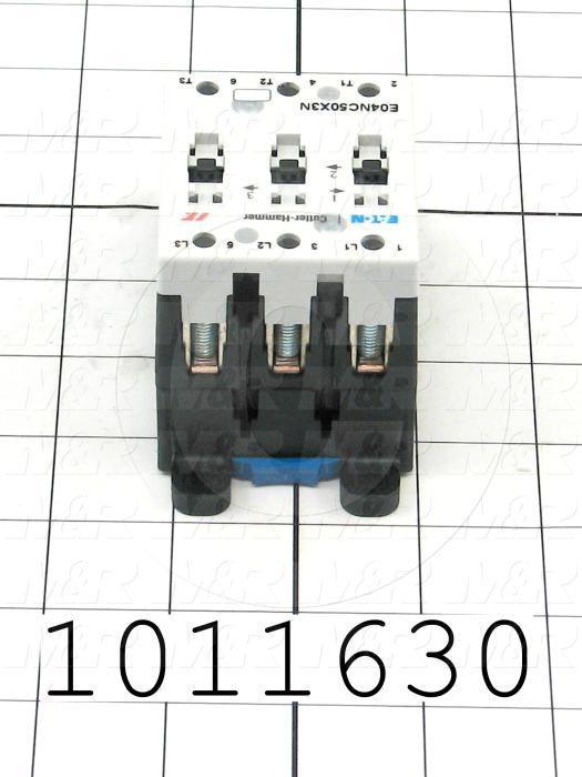 Contactor, 3 Poles, 24VDC Coil, 85A, 15 HP @ 3PH 200VAC, 575VAC, 30 HP @ 3PH 460VAC, Screw Terminal Connection