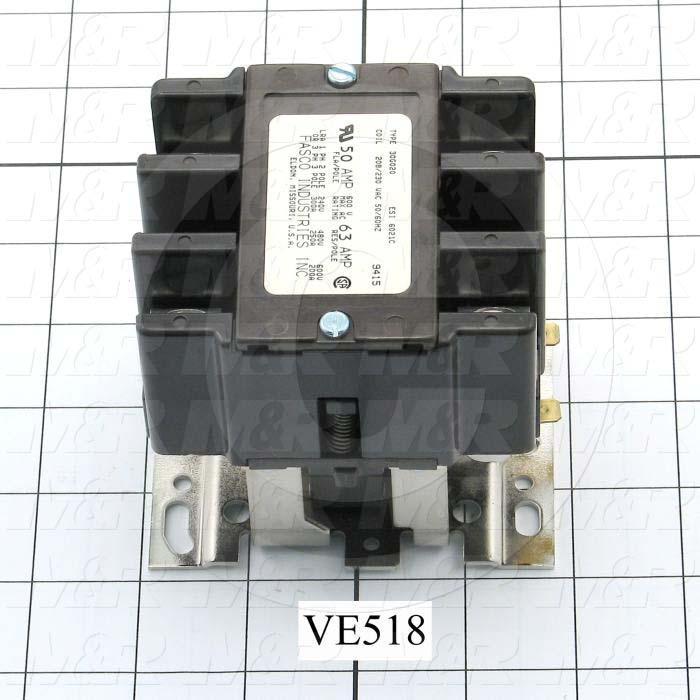 Contactor, 50A, 240VAC