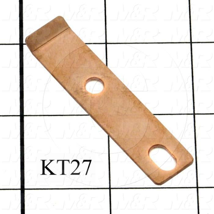 "Contacts, Female Half, 0.50"", 2.50"", 0.063"", Copper, Bus Bar, Used on Lamp Drawer Assembly"