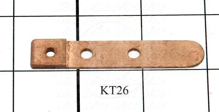 "Contacts, Male Flat, 0.50"", 2.69"", 0.063"", Copper, Bus Bar, Used on Lamp Drawer Assembly"