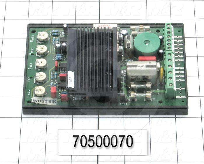 Control Board, Type WDS, Maximum Current 3.5A, With Dousing Motor Type KGOG 623, Used On Flocker