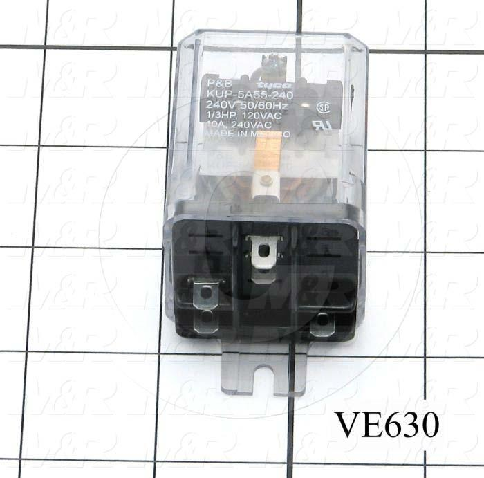 Control Relay, 1 Pole, 230VAC Coil Voltage, SPDT, 10A, 240VAC