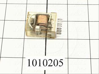 Control Relay, 2 Poles, 120VAC Coil Voltage, DPDT, 1A