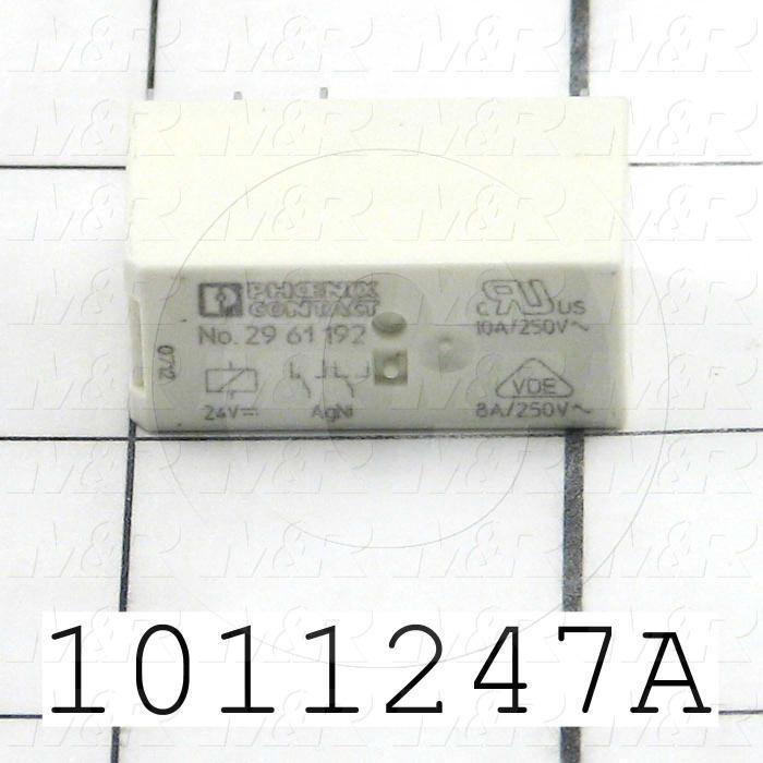 Control Relay, 2 Poles, 24VDC Coil Voltage, SPDT, 8A, 250VAC