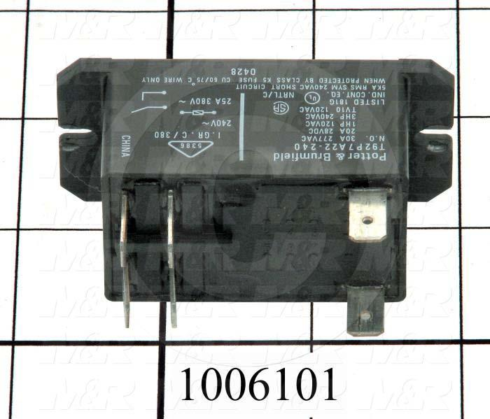 Control Relay, 240VAC Coil Voltage, DPST, 30A, 240VAC