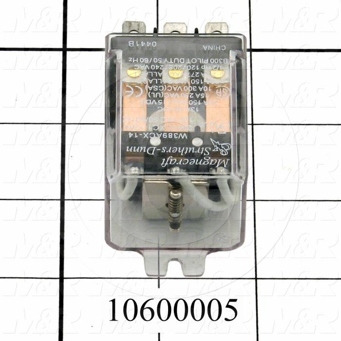 Control Relay, 3PDT, 20A, 120VAC