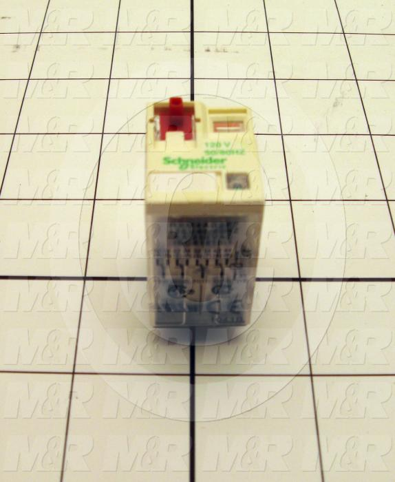 Control Relay, 4 Poles, 120VAC Coil Voltage, 4PDT, 6A, 250V, Plug-in