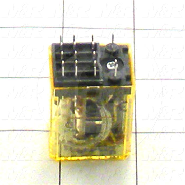 Control Relay, 4 Poles, 120VAC Coil Voltage, 4PDT, with Indicator Light, 1A, 230VAC