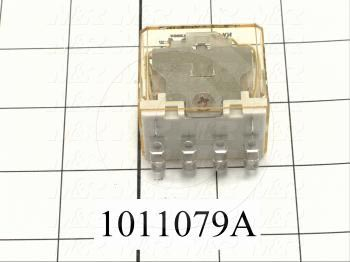 Control Relay, 4 Poles, 24VAC Coil Voltage, 4PDT, with Indicator Light, 10A, 230VAC