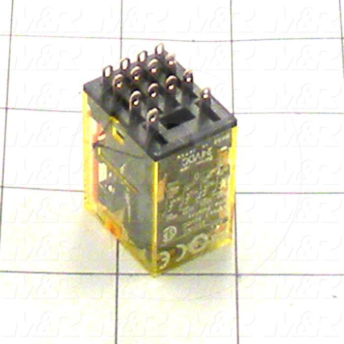 Control Relay, 4 Poles, 24VDC Coil Voltage, 4PDT, 1A