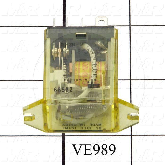 Control Relay, DPDT, 120VAC