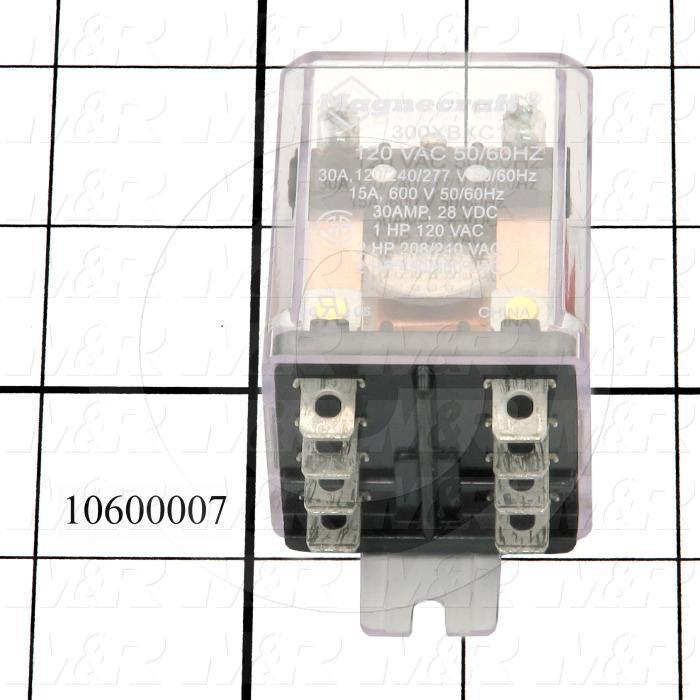 Control Relay, DPDT, 30A, 120VAC