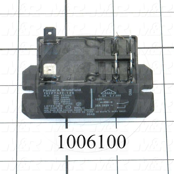 Control Relay, DPST, 30A, 120VAC