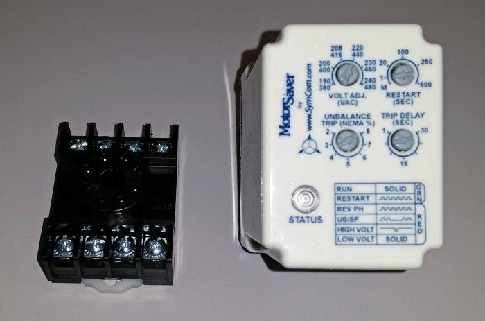 Control Relay, UNIVERSAL PHASE MONITOR, 10A