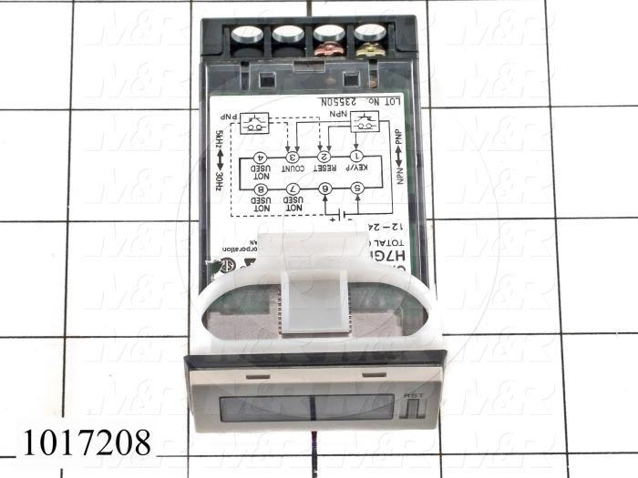 Counters, Total Counter, 6 Number of Digits, 12-24VDC, External and Manual Reset, Flush Mounting