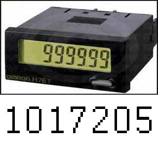 Counters, Total Counter, 8 Number of Digits, 5-30VDC, External and Manual Reset, Flush Mounting