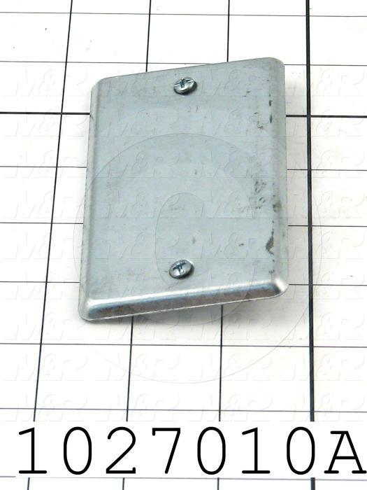 """Cover, For Junction Box, 2""""x4"""""""
