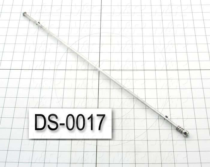 """Curtain Rod, PACEMAKER # 06 Machine Name, 20.13"""" Overall Length, This Is A Assembly Notes"""