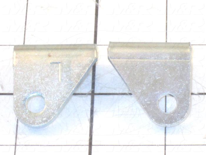 """Cylinder Brackets, Pivot Bracket, 0.81"""" Width, 1.12 Length"""