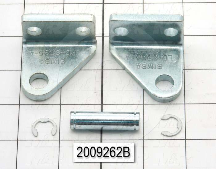 "Cylinder Brackets, Pivot Bracket, 3.25 in. Width, 1.81"" Length"