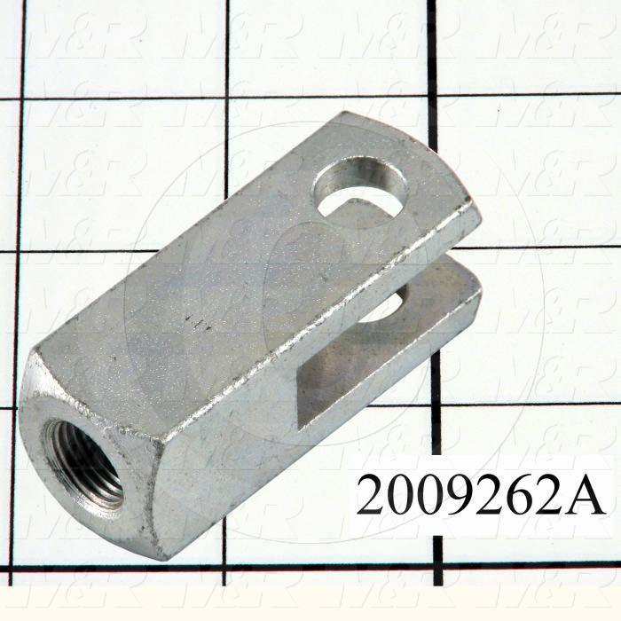 "Cylinder Clevis, 1/2-20 Thread Size, 0.88 in. Width, 2.31"" Length, .44"" OD Pin Size"