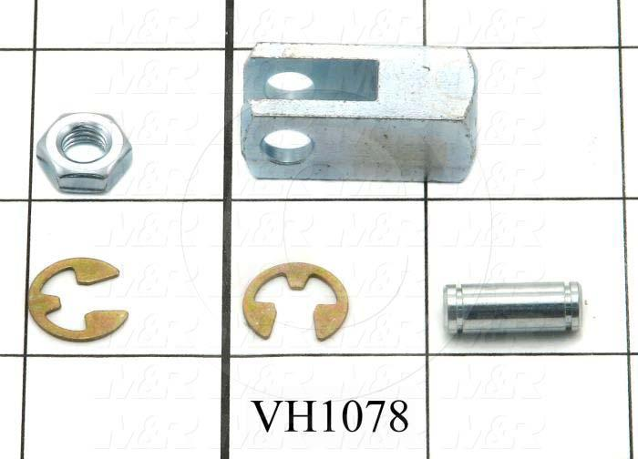 "Cylinder Clevis, 1/4-28 Thread Size, 0.50"" Width, 1.19"" Length, 1/4"" OD Pin Size"