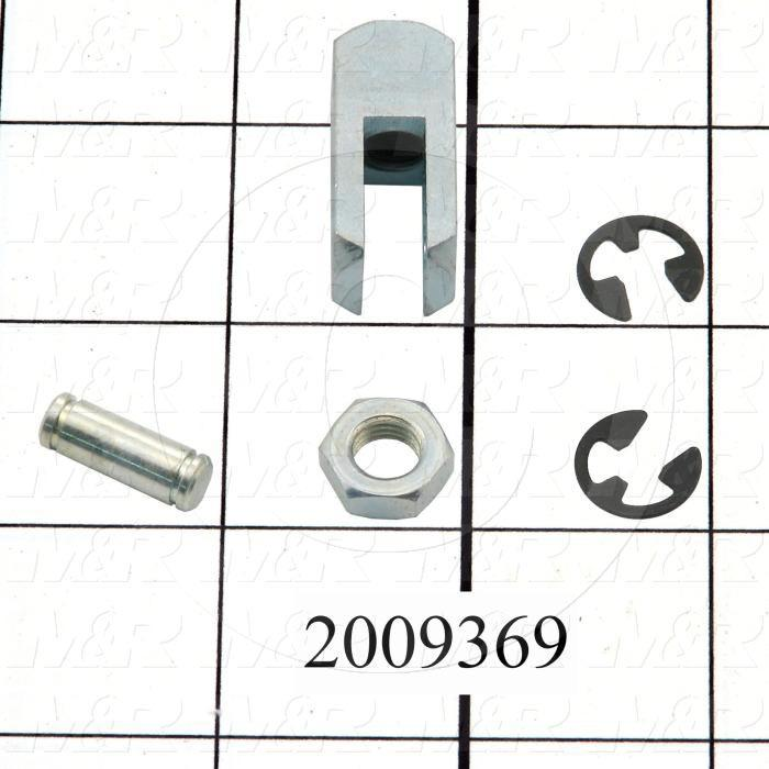 "Cylinder Clevis, 5/16-24 Thread Size, 0.75 in. Width, 1.19"" Length, 1/4"" OD Pin Size"