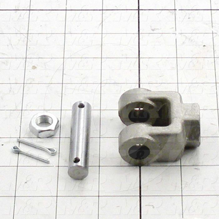 "Cylinder Clevis, 7/16-20 Thread Size, 1.77"" Width, 1/2"" OD Pin Size"