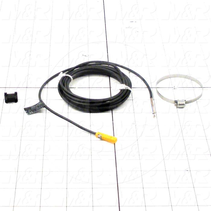 Cylinder Sensor, 3-Wire NPN, Normally Open, 3m Cable, 50mm Piston Diameter, 30VDC, With Strap