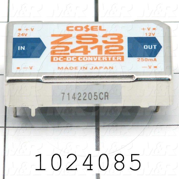 DC/DC Converter, 24VDC, 3W, 12VDC Output Voltage