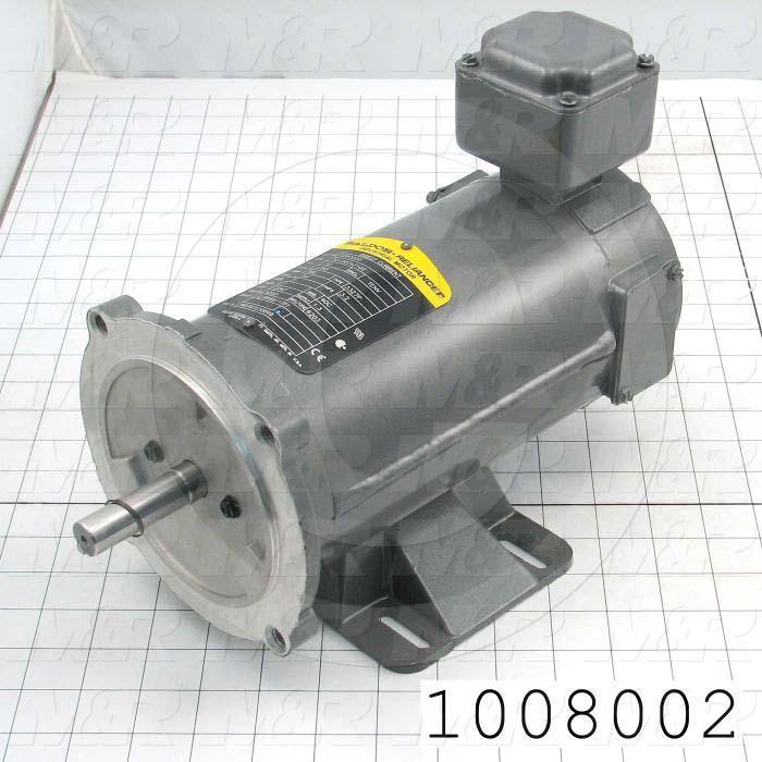 DC Motor, 1/3HP, 56C Frame, 1725 RPM, 90VDC, 3.2A