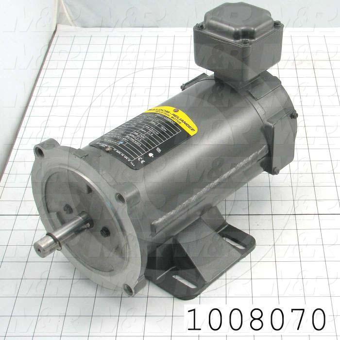 DC Motor, 1/3HP, 56C Frame, 1750 RPM, 180VDC, 1.6A